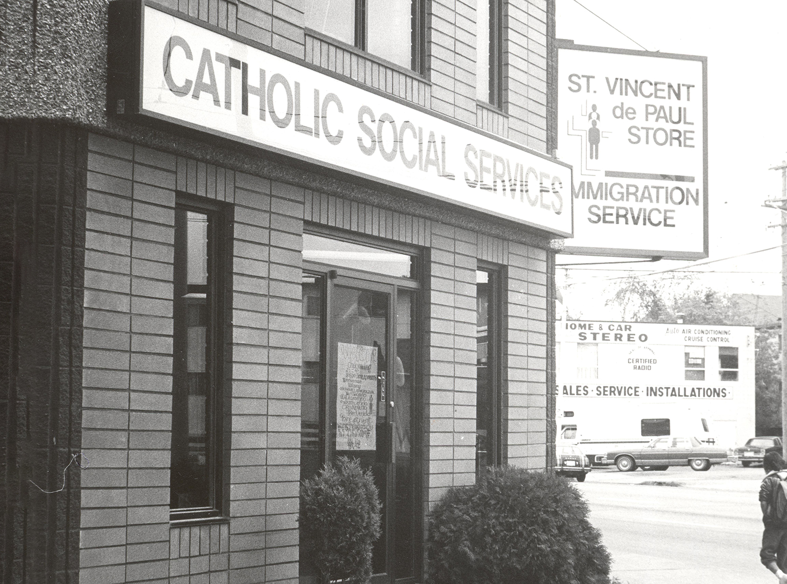 Catholic Social Services Timeline